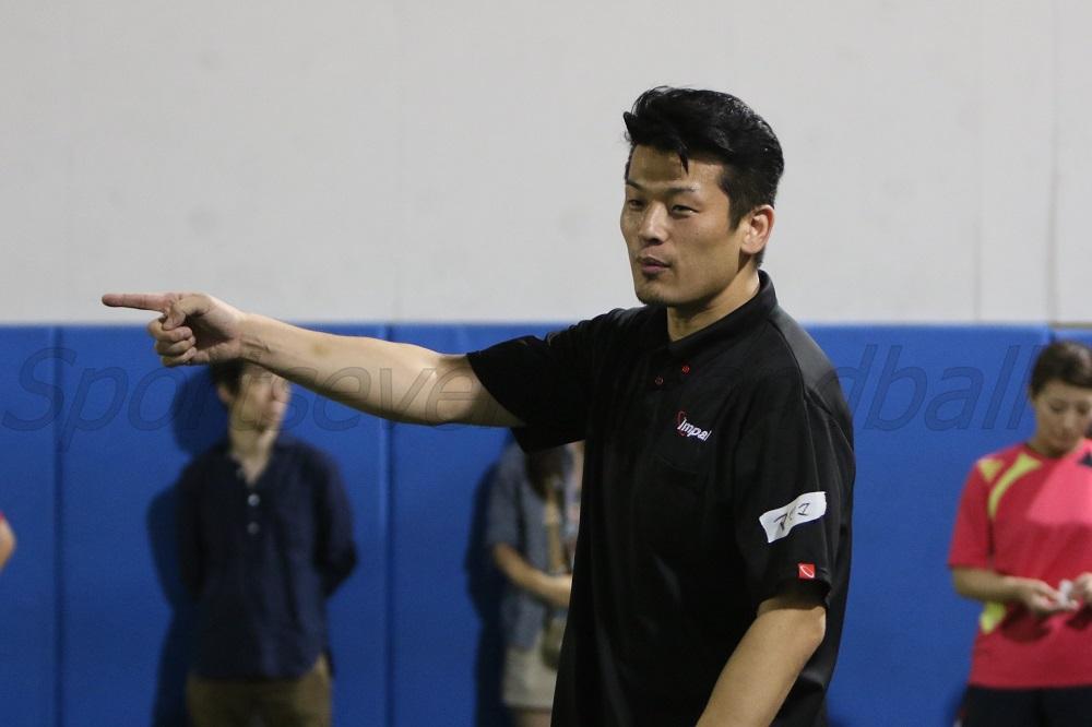 元日本代表選手の東さん。ハンドソープボールで競技人口拡大を狙う