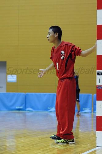 地元勢のプレッシャーもありながら、最後尾からチームを鼓舞した矢巾GKの松嶋