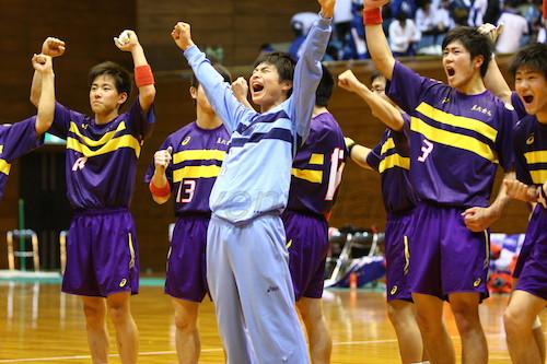 九州1位の大分雄城台に勝利して喜びを爆発させる藤代紫水セブン