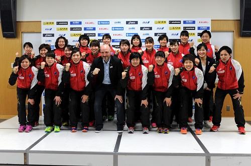 3月13日から第16回アジア選手権に臨むキルケリー監督率いるおりひめジャパン