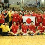 優勝した日本男子チーム