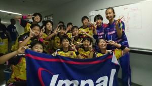 女子優勝の大阪ジュニアクセブン