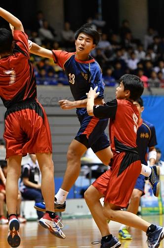 神森中キャプテン伊禮は決勝でこの試合最多の7得点を奪い、チームを盛り上げた